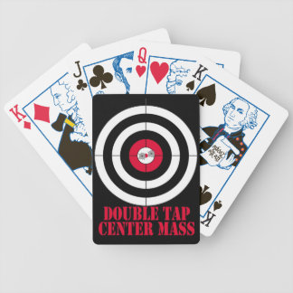 Double tap center mass gun target card deck