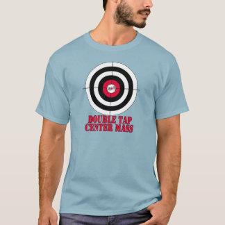 Double tap center mass gun target T-Shirt