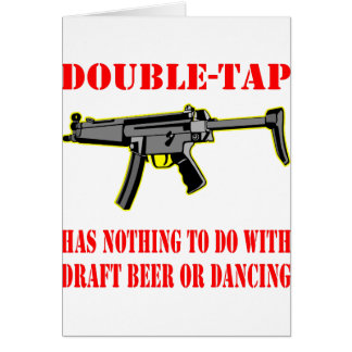 Double-Tap Has Nothing To Do With Beer Dancing Card