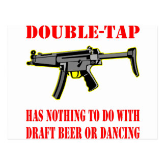 Double-Tap Has Nothing To Do With Beer Dancing Postcard