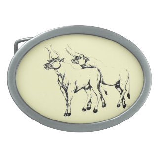 Double Taurus Belt Buckle