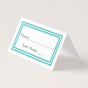 Wedding Themed Double Teal Trim - Escort Card