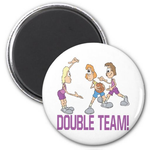 Double Team 2 Inch Round Magnet