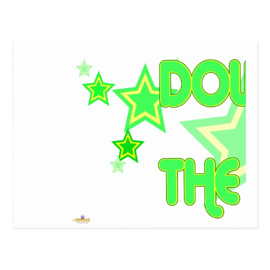 Double The Fun Green Yellow Stars Part 1 Postcard