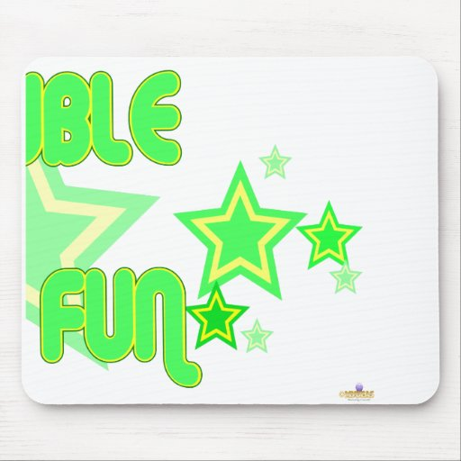 Double The Fun Green Yellow Stars Part 2 Mouse Mat