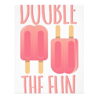 Double The Fun Letterhead
