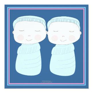 Double the Joy!  Twin Boy Shower Invitation