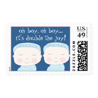 Double the Joy!  Twin Boys Postage