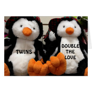 DOUBLE THE LOVE WHEN HAVING TWINS CARD