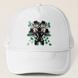 Double The Luck Leprechaun Trucker Hat