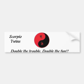 Double the trouble. Double the fun!,, Bumper Sticker