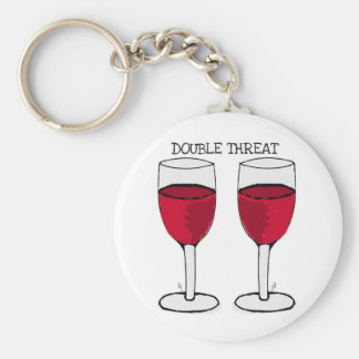 DOUBLE THREAT RED WINE PAIR PRINT KEYCHAIN