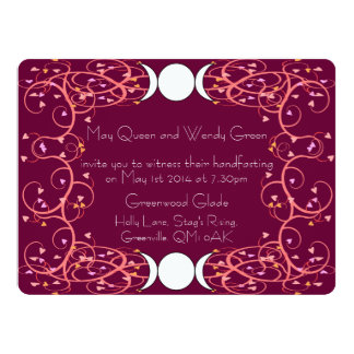 Double Three in One Lesbian Handfasting Invitation