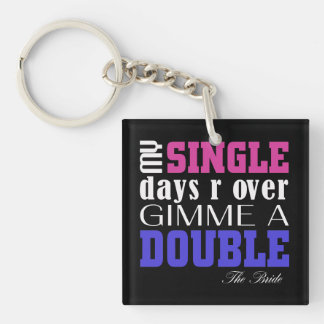 Double Time Bride (for darks) Acrylic Key Chain