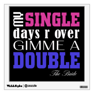 Double Time Bride (for darks) Wall Decal