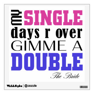 Double Time Bride Wall Sticker