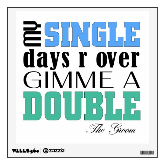 Double Time Groom Wall Sticker