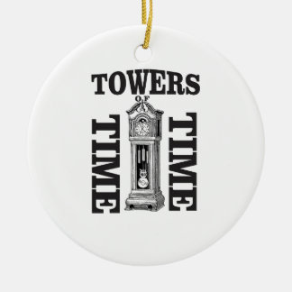 double time towers ceramic ornament
