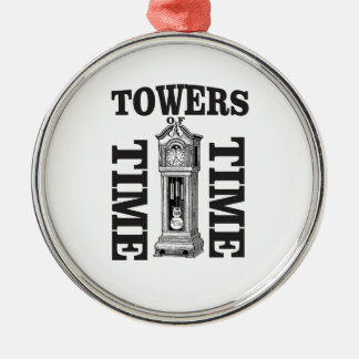 double time towers metal ornament