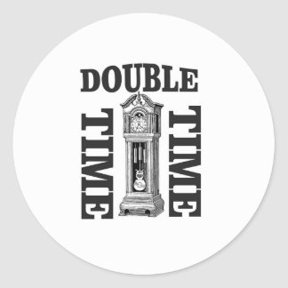 double time two classic round sticker