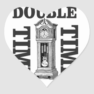 double time two heart sticker