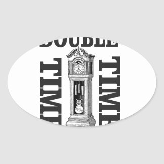 double time two oval sticker