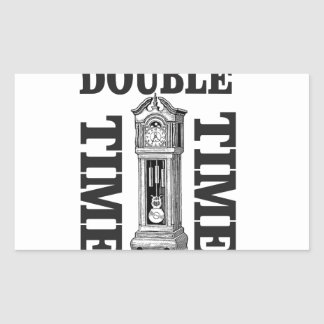 double time two rectangular sticker