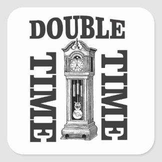 double time two square sticker