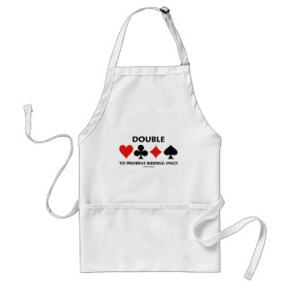 Double To Preserve Bidding Space (Card Suits) Adult Apron
