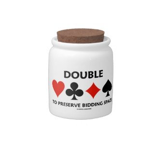 Double To Preserve Bidding Space (Card Suits) Candy Jar