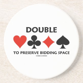 Double To Preserve Bidding Space (Card Suits) Coasters