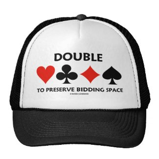 Double To Preserve Bidding Space (Card Suits) Trucker Hat