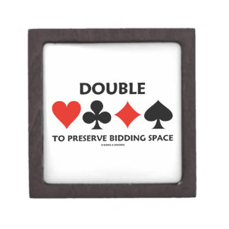 Double To Preserve Bidding Space (Card Suits) Jewelry Box