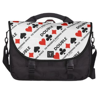 Double To Preserve Bidding Space (Card Suits) Laptop Bag