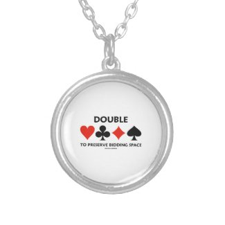 Double To Preserve Bidding Space (Card Suits) Necklaces