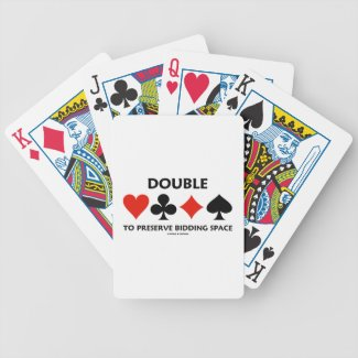 Double To Preserve Bidding Space (Card Suits) Card Decks