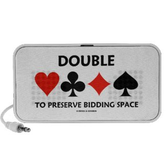 Double To Preserve Bidding Space (Card Suits) iPhone Speakers
