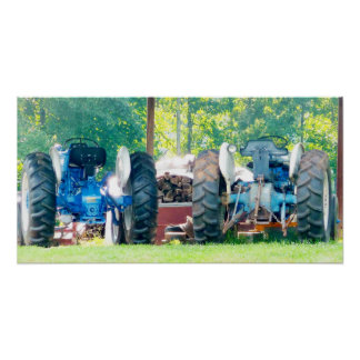 Double Tractor Poster