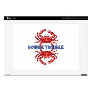 "Double Trouble 15"" Laptop Skin"