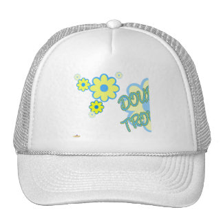 Double Trouble Blue Yellow Flowers Part 1 Trucker Hats