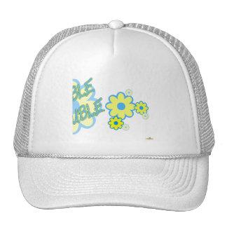 Double Trouble Blue Yellow Flowers Part 2 Mesh Hats
