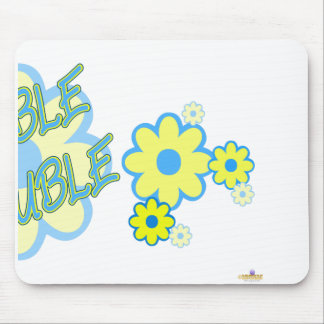 Double Trouble Blue Yellow Flowers Part 2 Mouse Pad