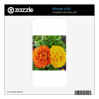 Double Trouble Flower Decal For The iPhone 4