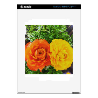Double Trouble Flower Decals For iPad 3