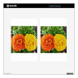 Double Trouble Flower Decals For Kindle Fire