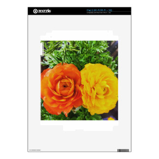 Double Trouble Flower Skins For iPad 2