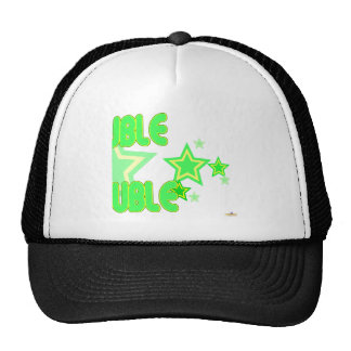 Double Trouble Green Yellow Stars Part 2 Mesh Hats