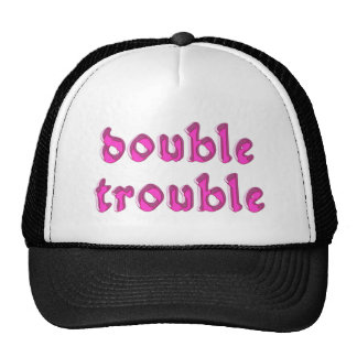 double trouble mesh hats
