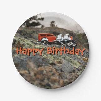 Double Trouble Hot Rod Birthday Plate