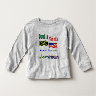 Double trouble Jamaican-American kids t-shirts